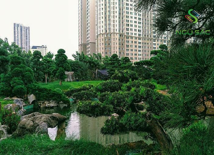 Sân vườn Tsukiyama đẹp mắt