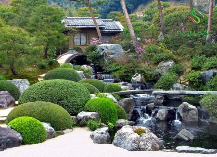 Mẫu sân vườn Nhật Bản Tsukiyama