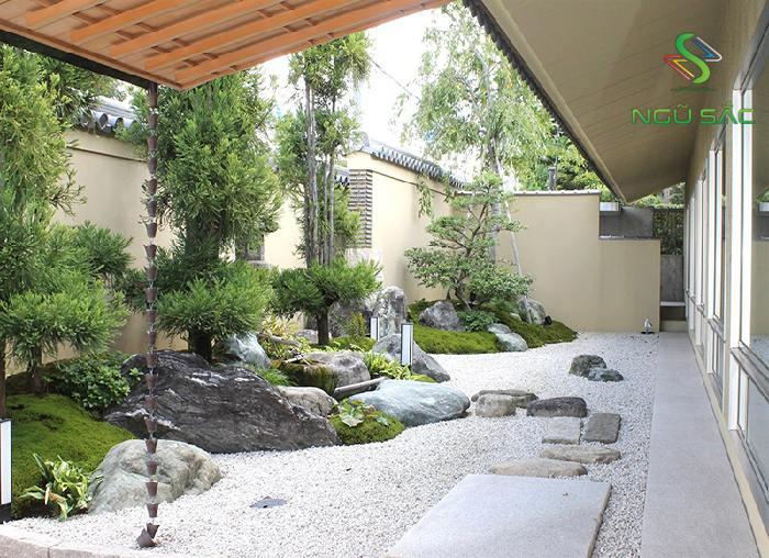 Mẫu vườn khô Nhật Bản Zen