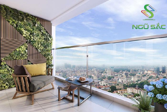 Thiết kế tường cây xanh ở ban công