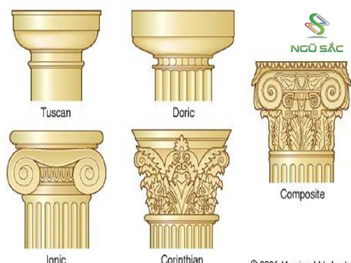 Hoa văn tinh tế trên thức cột cổ điển