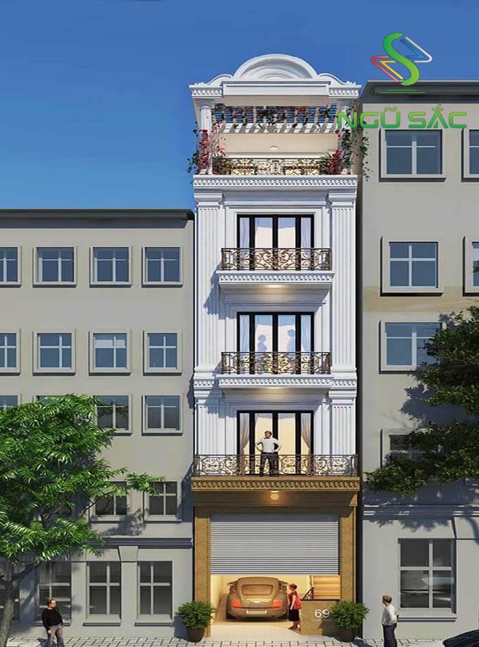Nhà phố với thiết kế thức cột Doric sang trọng