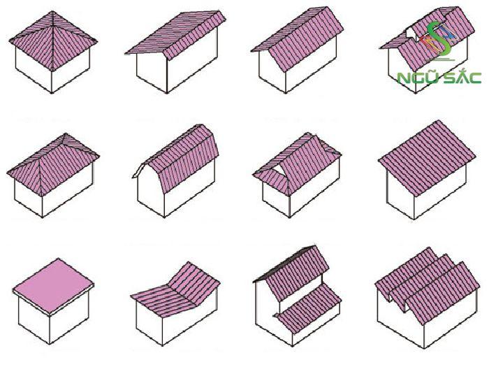 Các kiểu mái nhà