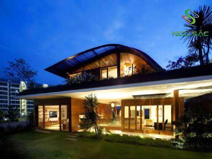 Nhà mái vòm cách điệu hiện đại