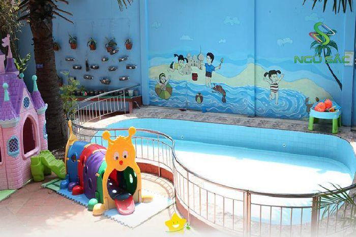 Thiết kế hồ bơi cho bé
