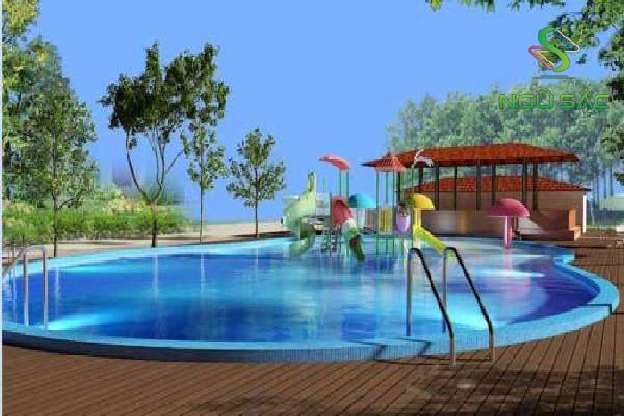 Bố trí không gian hồ bơi cho trẻ