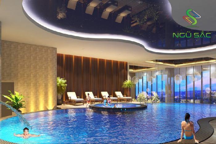 Mẫu hồ bơi trong nhà hiện đại