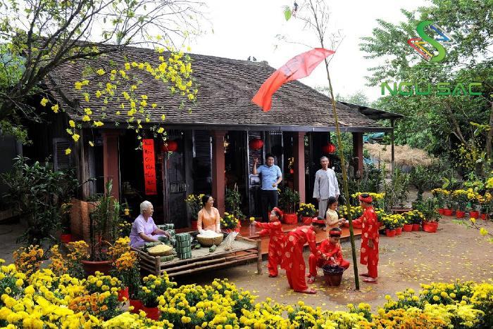 Sân vườn ngày Tết truyền thống