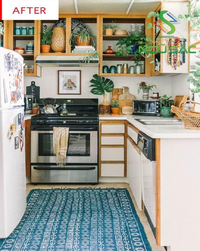 Gian bếp nhỏ nhưng xinh xắn