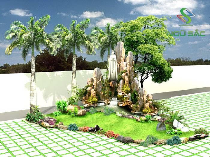 Hòn non bộ sân vườn