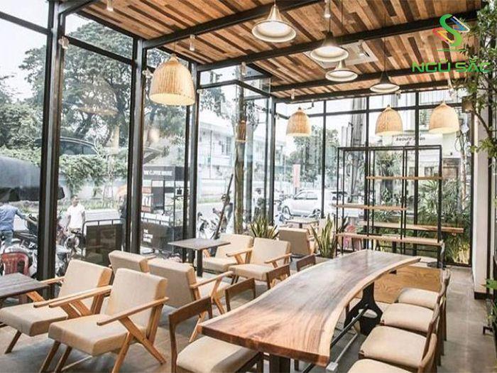 Quán cà phê xây dựng bằng khung thép