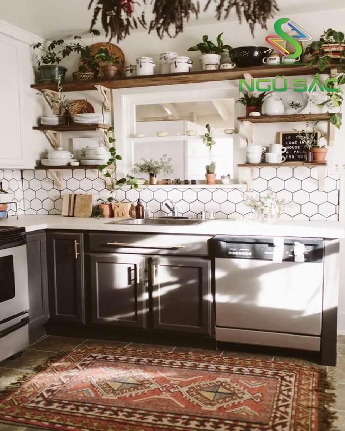 Lựa chọn gạch hoa văn độc đáo cho gian bếp