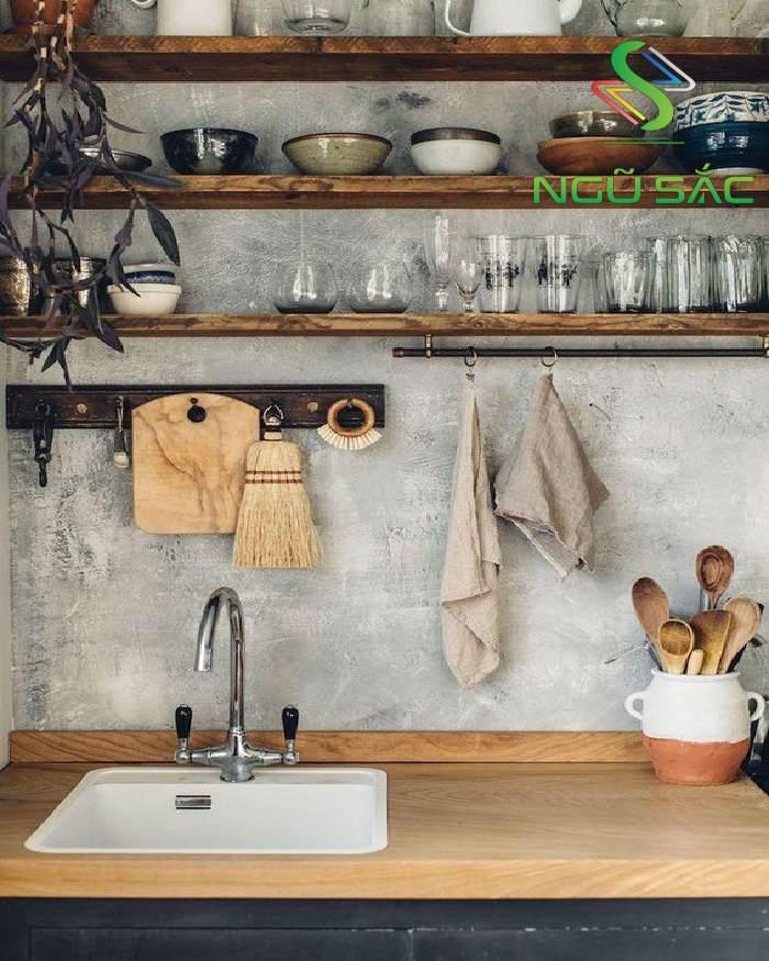 Lựa chọn màu trung tính cho gian bếp hiện đại
