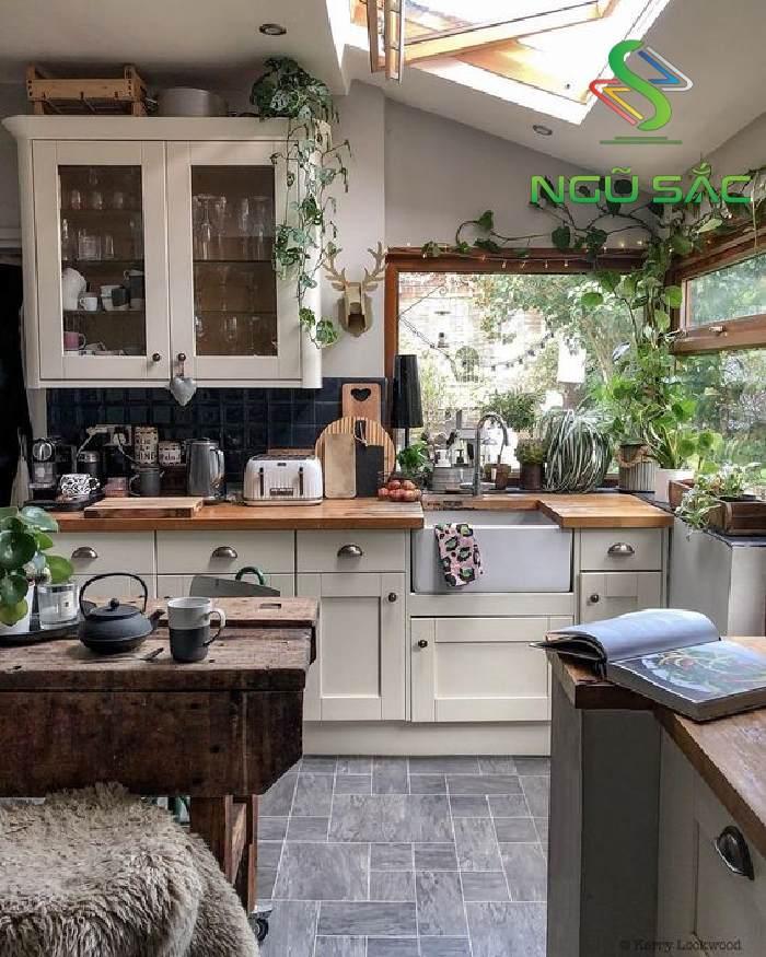 Thiết kế nhà bếp lấy được ánh sáng tự nhiên