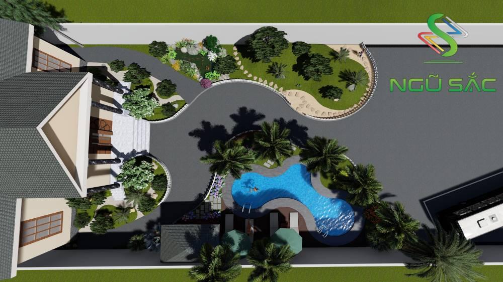 Đơn vị thiết kế thi công sân vườn