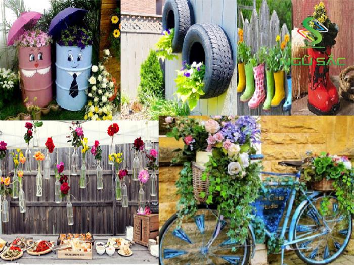 Một số ý tưởng DIY cho sân vườn