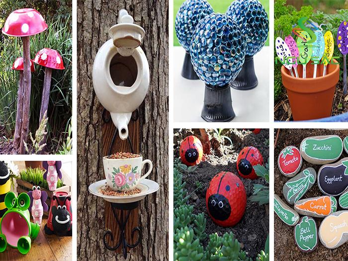 Tự tạo các vật dụng trang trí sân vườn