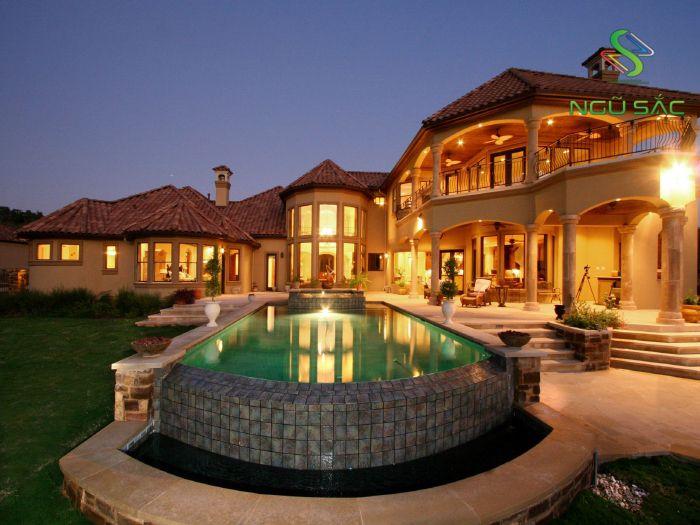 Thiết kế biệt thự sang trọng có hồ bơi