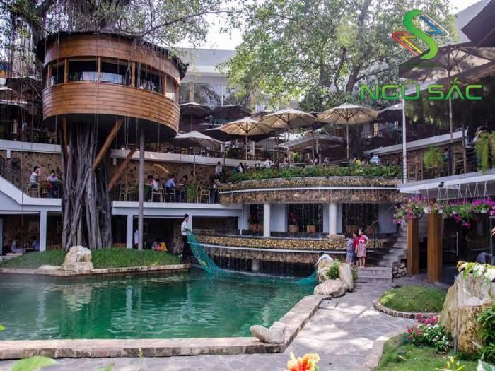 Quán cà phê sân vườn gần gũi với thiên nhiên