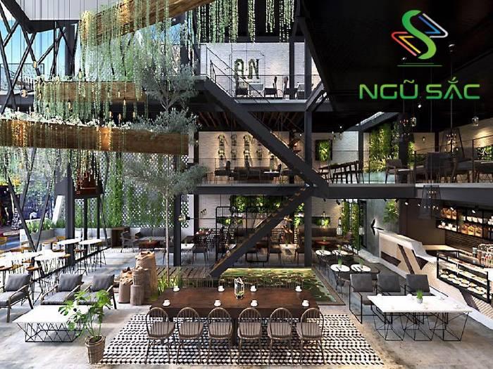 Thiết kế quán cà phê phong cách hiện đại