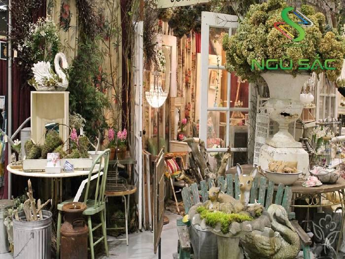 Quán cà phê sân vườn vintage