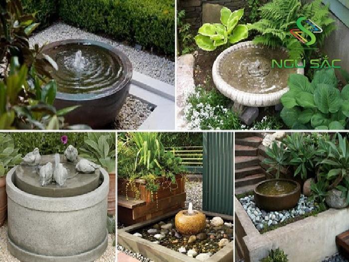 DIY đài phun nước sân vườn