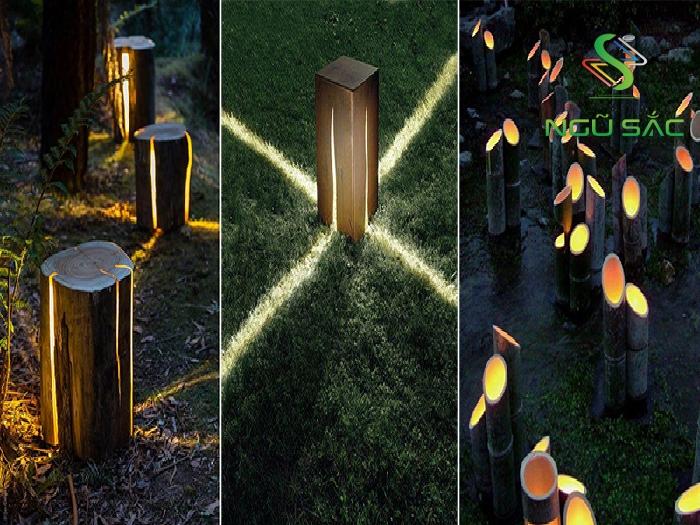 Đèn tự tạo bằng thanh gỗ