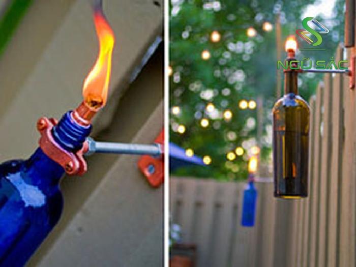 Sáng tạo làm đèn sân vườn từ chai thủy sinh
