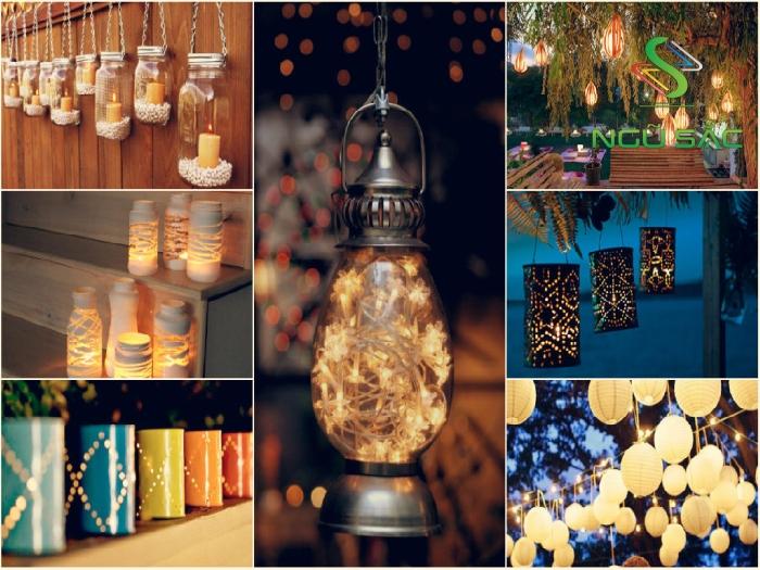 Một số ý tưởng làm đèn trang trí sân vườn đẹp