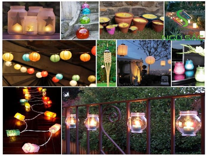 Các mẫu đèn sân vườn DIY