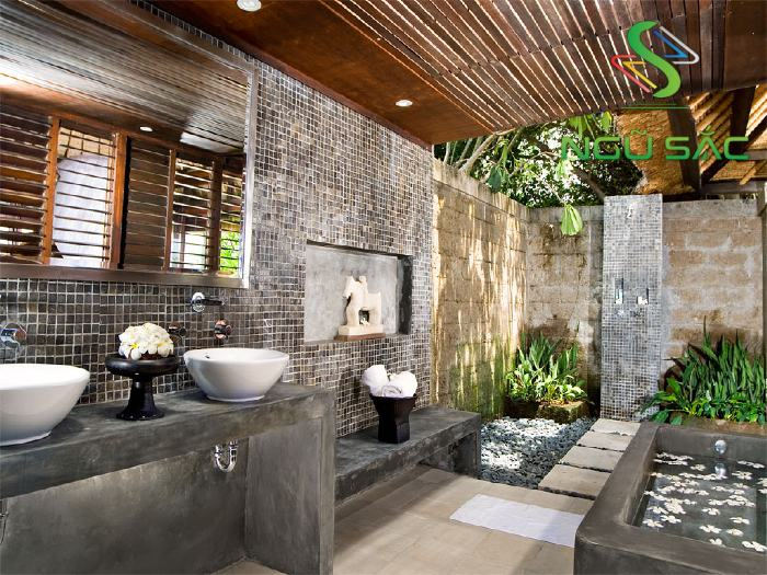 Mẫu phòng tắm ngoài trời đẹp