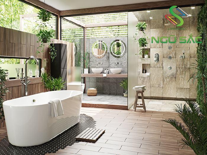 Xây dựng nhà tắm gần gũi với thiên nhiên