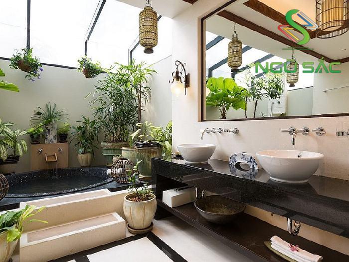 Bốn tắm nằm vuông hiện đại