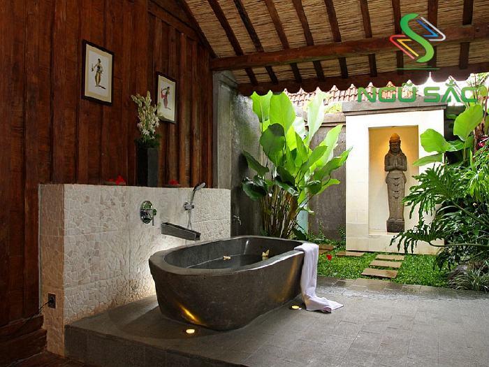 Thiết kế bồn tắm nằm bằng đá tự nhiên