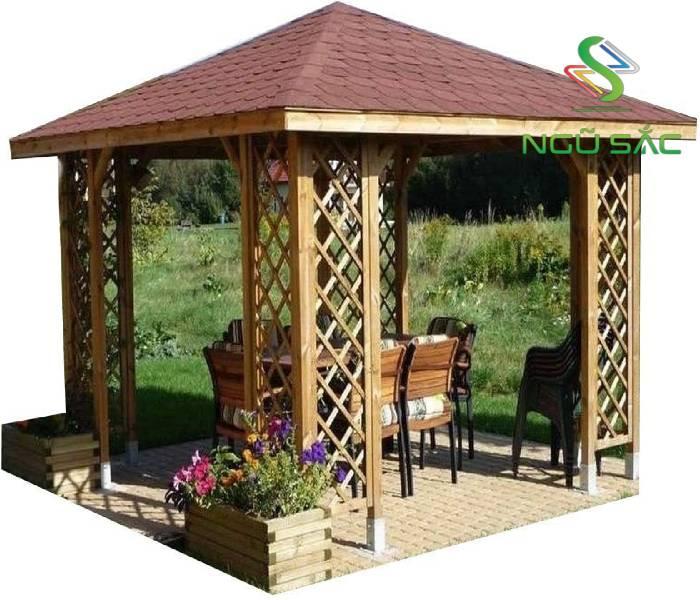 Thiết kế nhà chòi đơn giản bằng gỗ
