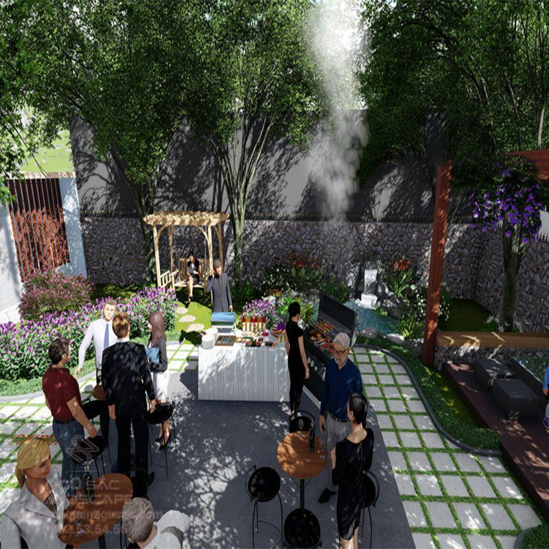 Phối Cảnh 3D Sân Vườn Biệt Thự Hiện Đại Của Anh Hiệp Trà Vinh