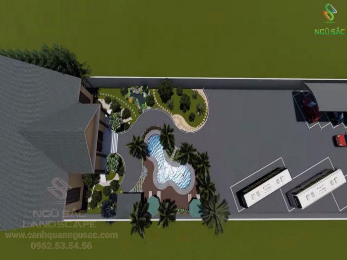 Xây dựng nhà vườn với không gian vườn sang trọng