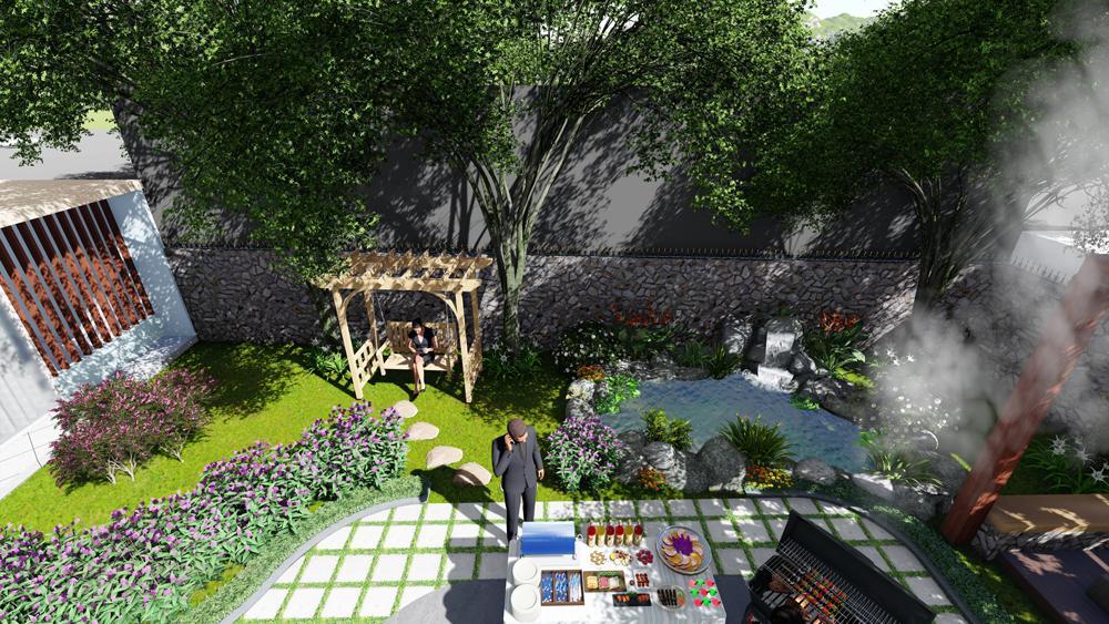 Một góc sân vườn