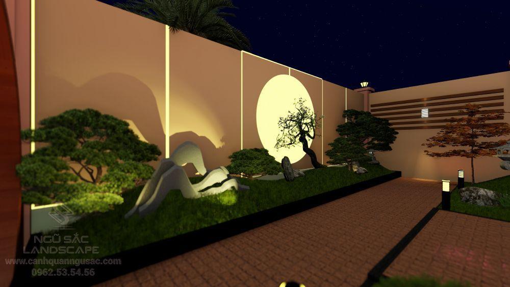 Tiểu cảnh vườn ban đêm