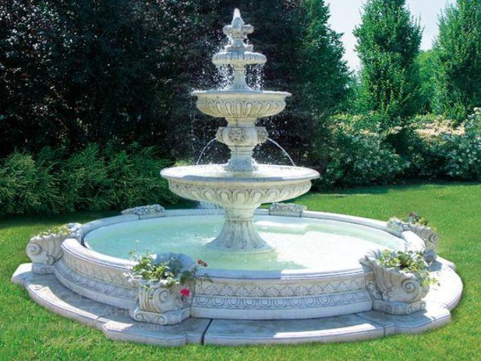 Thiết kế đài phun nước sân vườn