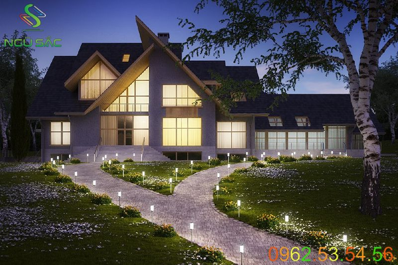 Đèn nấm cắm cỏ trang trí lối đi sân vườn