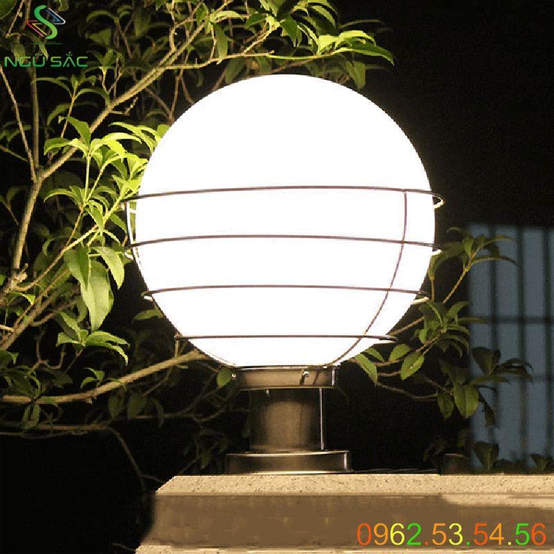 Đèn trụ cổng sân vườn dạng cầu