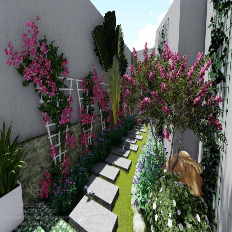 Phối Cảnh 3D Sân Vườn Nhà Phố Của Chị Vy Quận 1