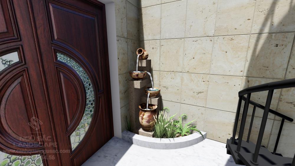 Thác nước mini sân vườn