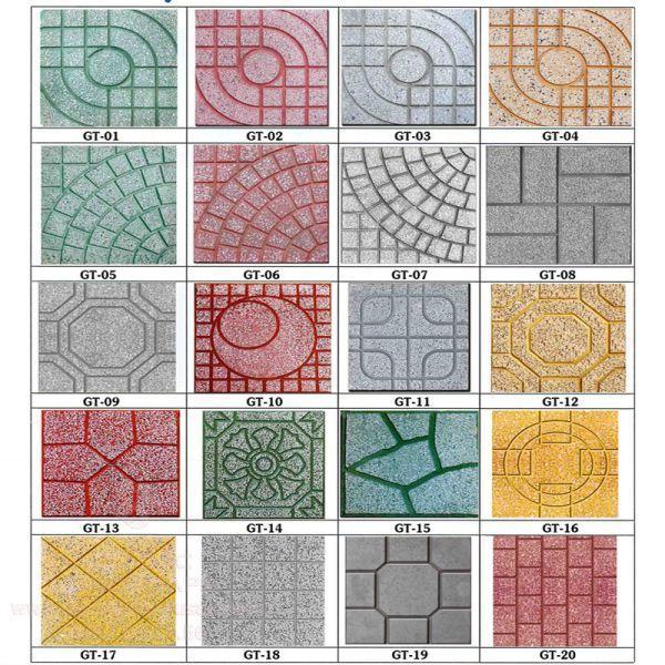 Các mẫu gạch lát sân Terrazzo