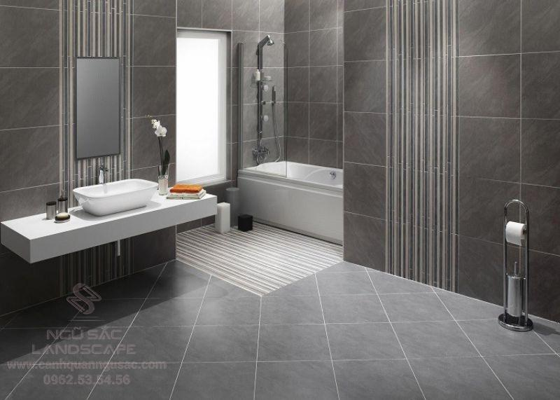 Chọn gạch lát chống trơn cho nhà tắm