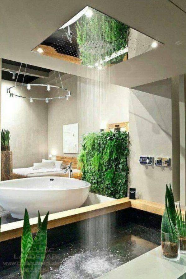Thiết kế giếng trời đẹp trong nhà tắm