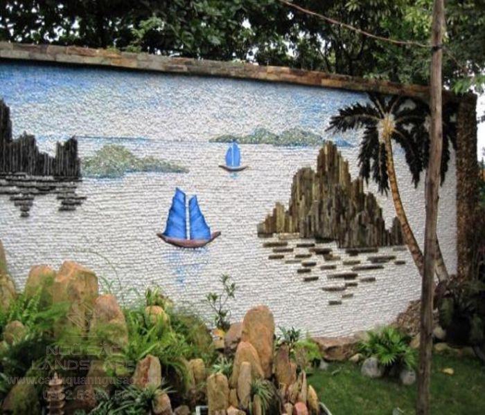 Tiểu cảnh tranh đá ốp tường đẹp