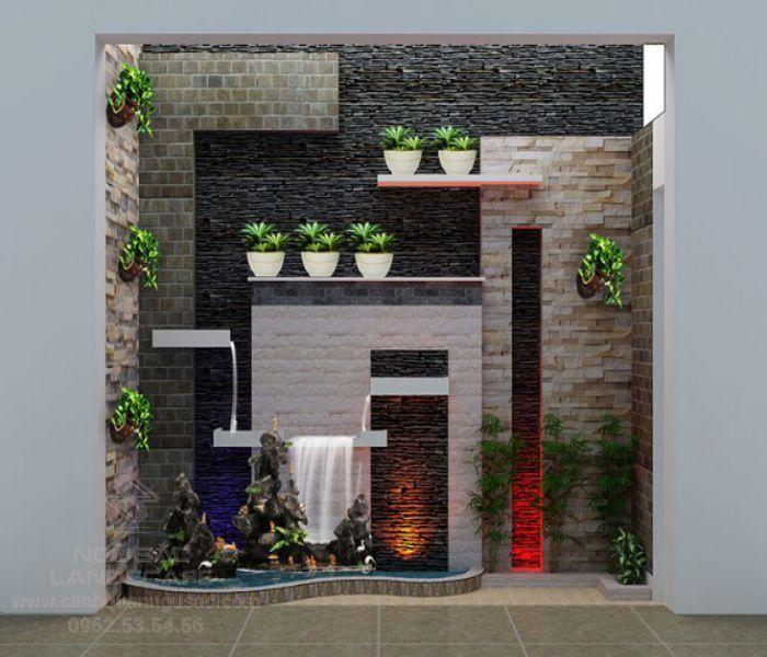 Thiết kế tranh đá tường hiện đại