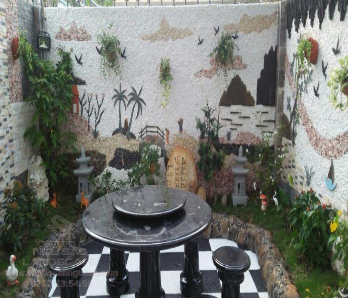 Trang trí tường với tranh đá đẹp